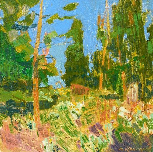 Michael Ferguson  Open Pines  oil 12×12 in.