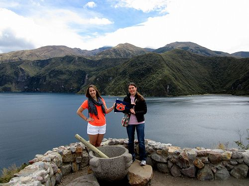 """Auburn Students at Cotacachi Volcano"" Student Photo in Ecuador"