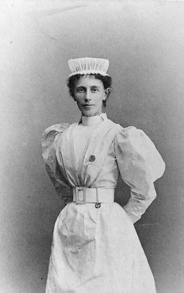 Georgina Pope (1862–1938) was a Canadian nurse who served with distinction in the Second Boer War (South Africa) & First World War (England & France). She became the first Canadian to receive the Royal Red Cross, awarded to her for conspicuous service in the field. In 1908 she was appointed first Matron of the Canadian Army Medical Corps. Upon her death, Pope was granted a full military funeral.