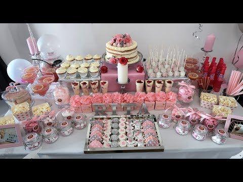 باقل التكاليف حضرت بوفيه كلاس وجد راقي لاول عيد ميلاد بنتي Youtube Buffet Cake Desserts