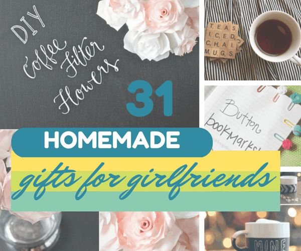 31 Homemade Gifts For Your Girlfriend. See the full list of ideas: http://www.thesawguy.com/31-thoughtful-homemade-gifts-for-your-girlfriend/