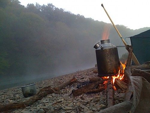 Kelly Kettle - on the camp fire