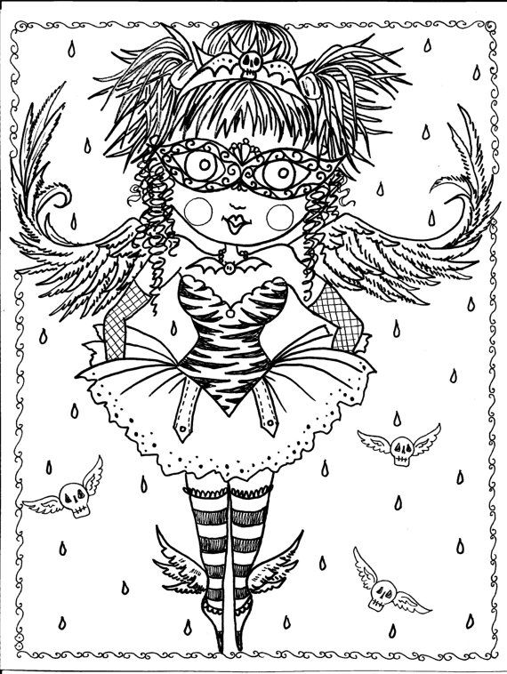 gothic art coloring pages - photo#38