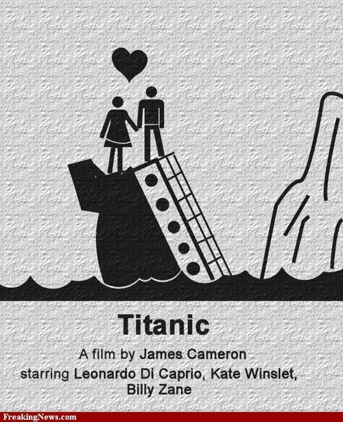 Titanic Pictogram Movie Poster Pictures - Strange Titanic Pictogram Movie Poster Pics