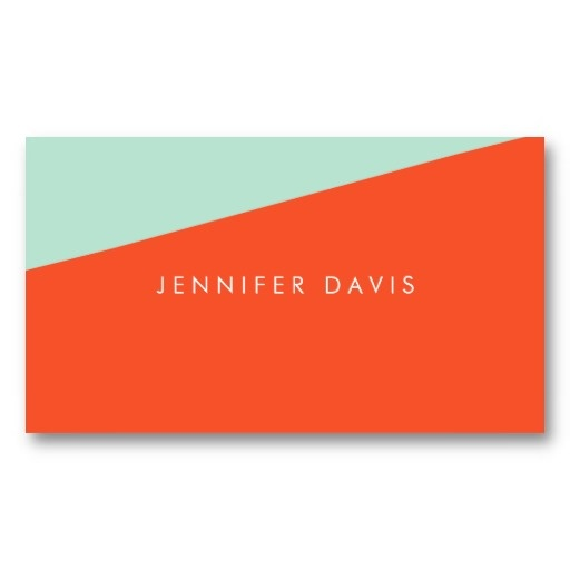 24 best business cards images on pinterest card patterns business 2 color business card orange red magic mint by milalala reheart Image collections
