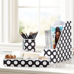 Desk Accessories, Desk Organizers & Dorm Accessories | PBteen $39, DIY with cardboard and contact paper