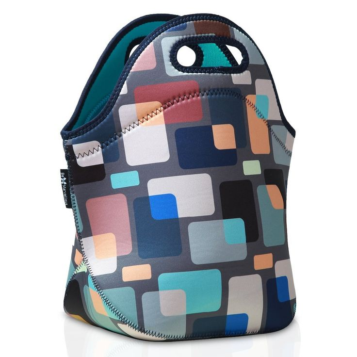 """Neoprene Insulated Lunch Tote Bag - Premium Lunch Bags for Women Adults Kids and Teen Girls - 12.5""""12"""" 6.5"""" by Be Marvellous"""