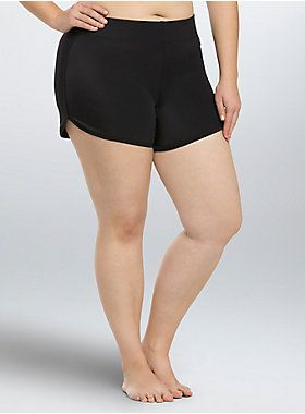 <p>These swim shorts are ideal for any beach activity, from a walk along the shore to lounging in the sun. Constructed with sheeny-soft black swim material, these shorts offer coverage and comfort. Sporty and versatile!</p>  <ul> <li>Hip hider</li> <li>Nylon/spandex</li> <li>Hand wash cold, line dry</li> <li>Imported plus size swim shorts</li> </ul>