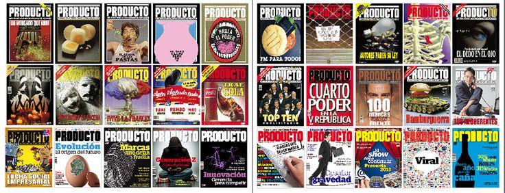 Un grupo de las portadas PRODUCTO, que han hecho historia durante 30 años