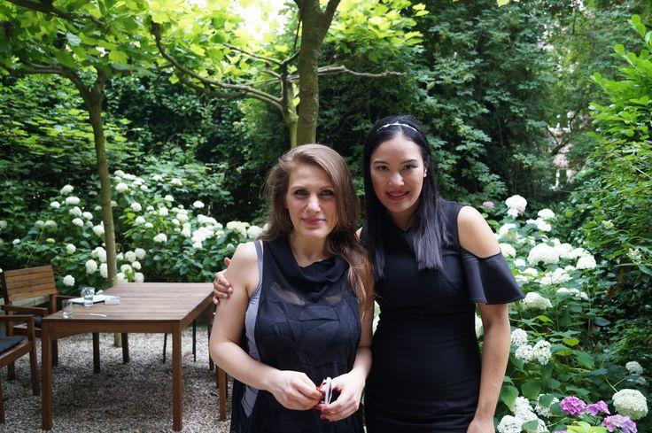 2 talented and inspiring perfumers together in our garden at Annindriya Perfume Lounge: Francesca Bianchi & Pissara Umavijani