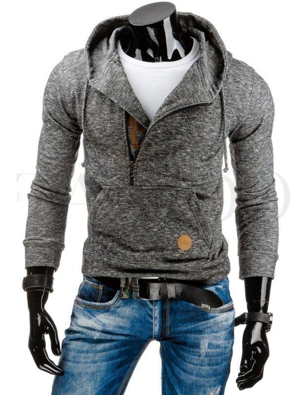 Pánská stylová mikina - Henry, šedá