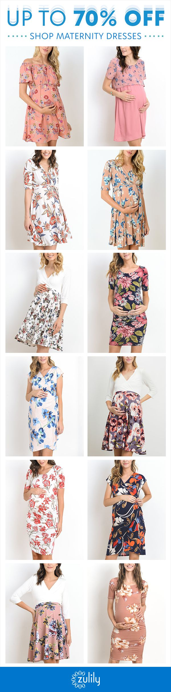Sign up to shop maternity dresses, up to 70% off. These floral maternity dresses …  – Maternity Style
