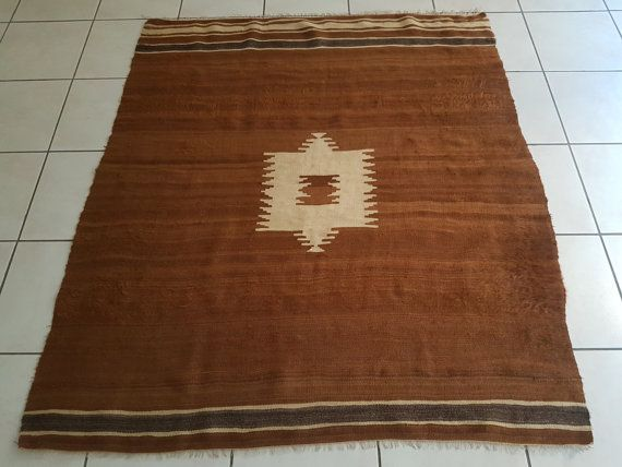 Goat Hair Decorative Rug Turkish Kilim by HANDSONHIPS on Etsy