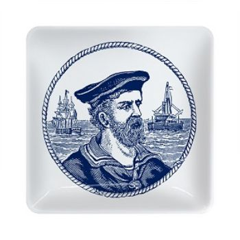 Sailor Trinket Tray: This quirky blue and white Sailor Trinket Tray is a great way to bring a touch of nautical style to your bathroom or indeed any room in your home. Practical and cool; use for storing jewellery, as a soap dish or on it's own as a seaside-inspired decorative ornament.
