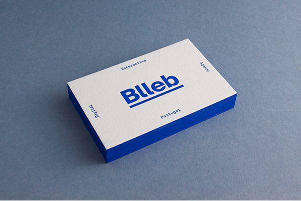 Blleb Letterpress Business Card on Behance