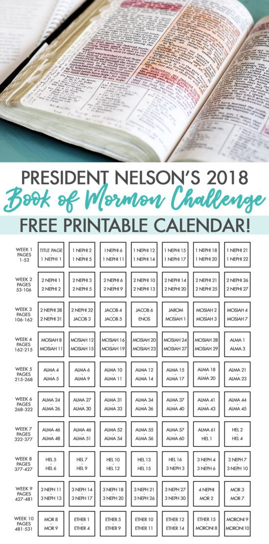 graphic regarding President Nelson Challenge Printable referred to as President Nelsons 2018 Guide of Mormon Dilemma Reading through