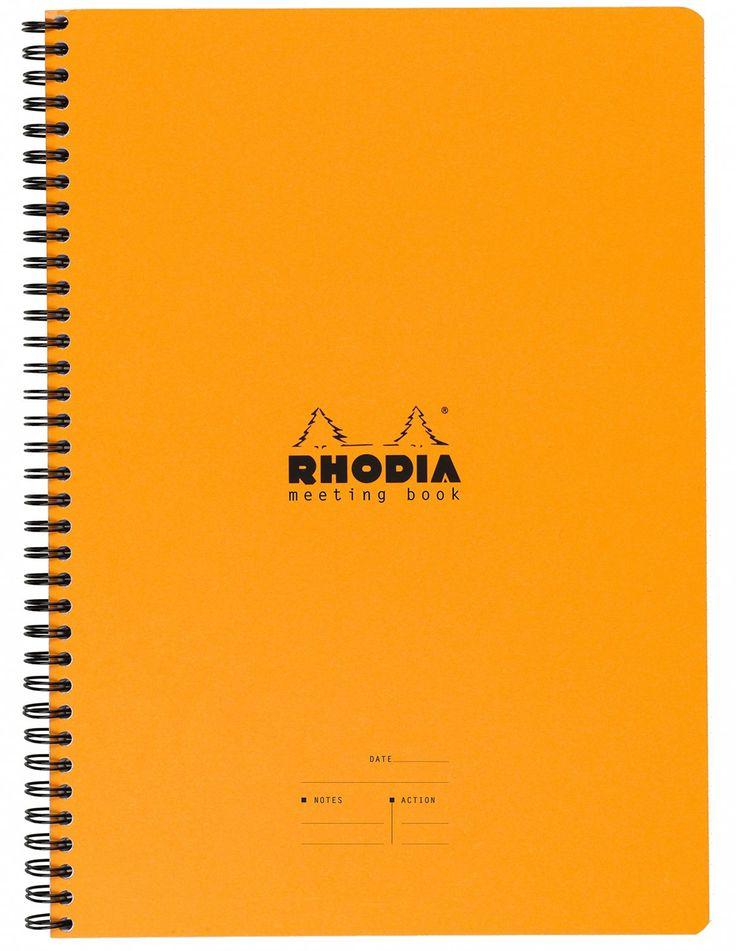 Rhodia Wiredbound - Notebook - Orange - Lined - Meeting Book - 9 x 11.75