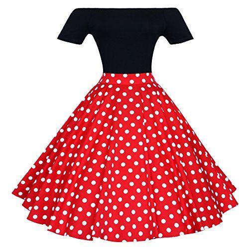 Maggie Tang 1950s Vintage Retro Polka Dots Swing Rockabilly Casual Skirts RW XL