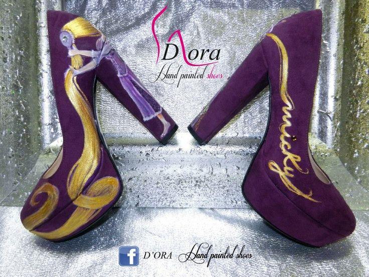https://www.facebook.com/pages/DORA-Hand-Painted-Shoes/144006675801939 #handpainted #hand #painted #shoes #scarpe #dipinteamano #dipinte #art #fashion #high #heels #plateaux #rapunzelscarpe #tangledshoes
