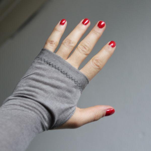 Armstulpen DIY Resteverwertung für Ballettbody-Jersey!