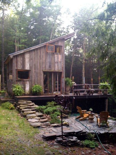 off the grid cabin. Designed for thermal performance and everything :)