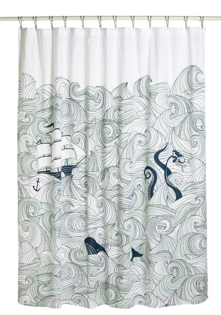 Swell Acquainted Shower Curtain | Mod Retro Vintage Bath | ModCloth.com