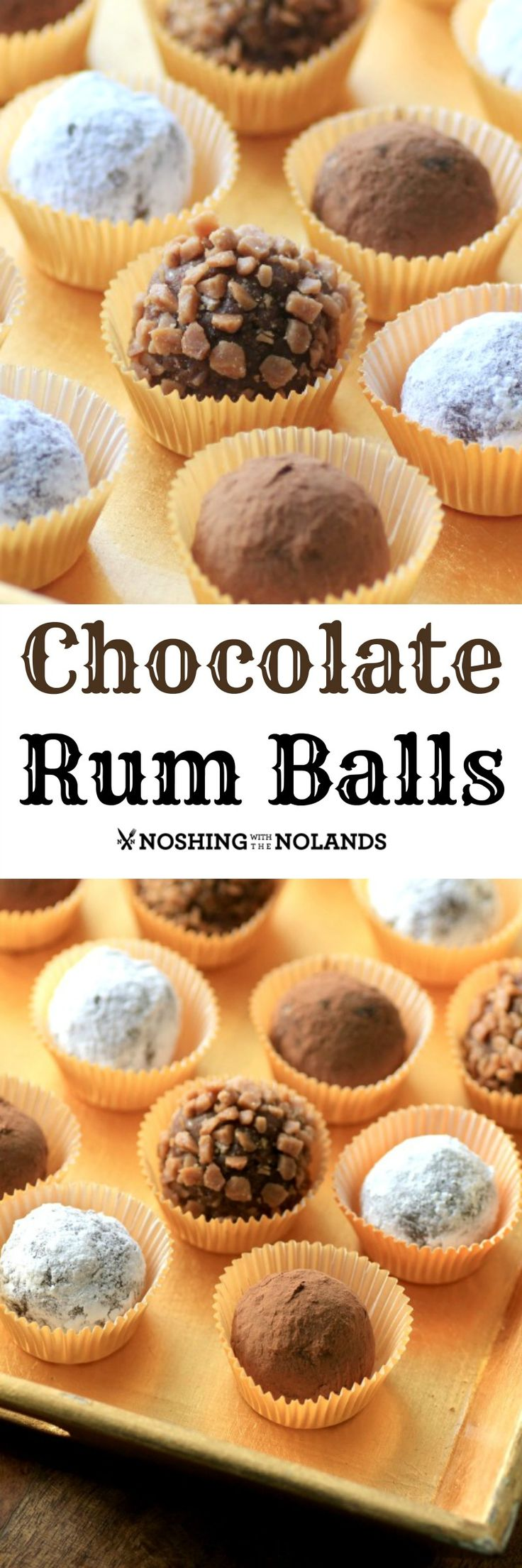 Chocolate Rum Balls by Noshing With The Nolands are elegant no-bake cookies perfect for the holidays! (Chocolate Party Pops)