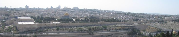 Temple Mount of Solomon  Below is a view of the Temple Mount from the Mount of Olives. The gold dome is the Dome of the Rock. The two gray domes slight to the left and behind the gold dome is the Church of the Holy Sepulcher. The building at the far left on the Temple Mount with the gray dome is the Al Aqsa Mosque. The Golden Gate can be seen in the eastern wall in about the middle of the photo.