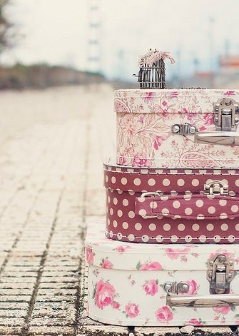 The only way to #travel is in style! #vacay: Pink Suitcases, Girly Suitcases, Girls Beautiful, Girly Purses Storage, Suitcases Trunks Boxes, Suitcases Floral, Girly Vintage, Pretty Girly Stuff, Humble Suitcases