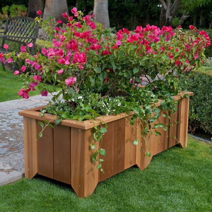 Rectangle Cedar Wood Pocatello Planter: Pocatello Planters, Country Rectangle, Rectangle Cedar, Woods Pocatello, Gardens Idea, Cedar Woods, Woods Country, Cedar Planters, Flower Boxes