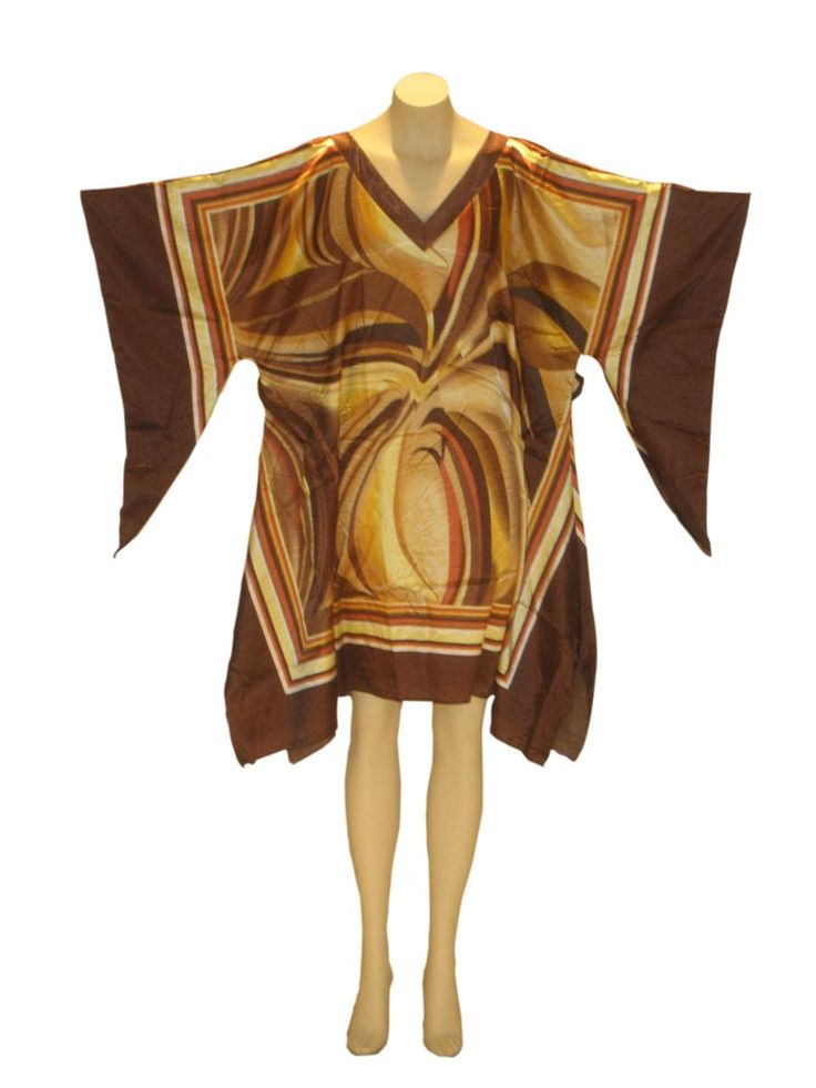 Shimmering Wave Dashiki Tunic Top: Brown from Kaftan Connection