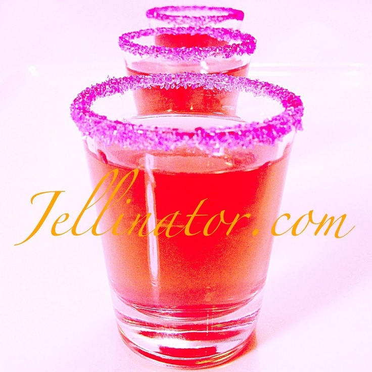 Kinky Malibu Barbie ...Jello Shots! Peach jello dissolved in 1 cup water + 1/2 cup Malibu + 1/2 cup Kinky liqueur... Use your Jellinator to fill some pink sugar rimmed shot glasses. Chill. Then serve these gorgeous little shots!: Peaches Jello, Malibu Barbie, Cups Kinky, Kinky Malibu, Kinky Liqueurs, Cups Malibu, Barbie Jello, Coconut Rum, Cups Pink