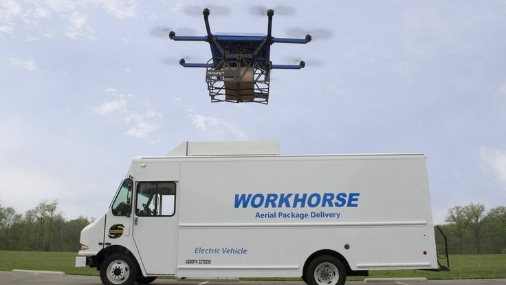 Workhorse joins companies like Amazon and UPS in focusing on 'last mile' drone delivery with their newly-unveiled Horsefly drone.
