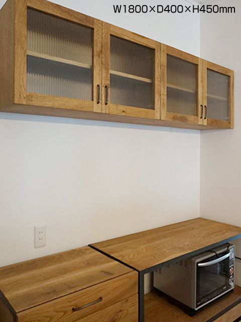 画像13: ≪吊り戸棚≫【Hanging cupboard I /オーク・ウォールナット/開き戸タイプ/2サイズ】