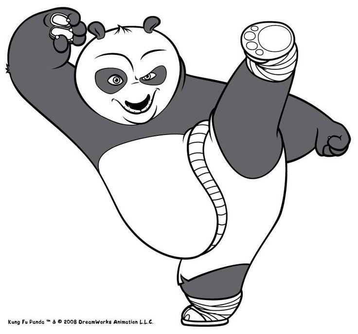 Coloriage Kung Fu Panda De Po Le