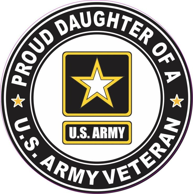 US Army Veteran Daughter % inch Round Custom Sticker Car Decal New in Collectibles, Militaria, Current Militaria (2001-Now) | eBay