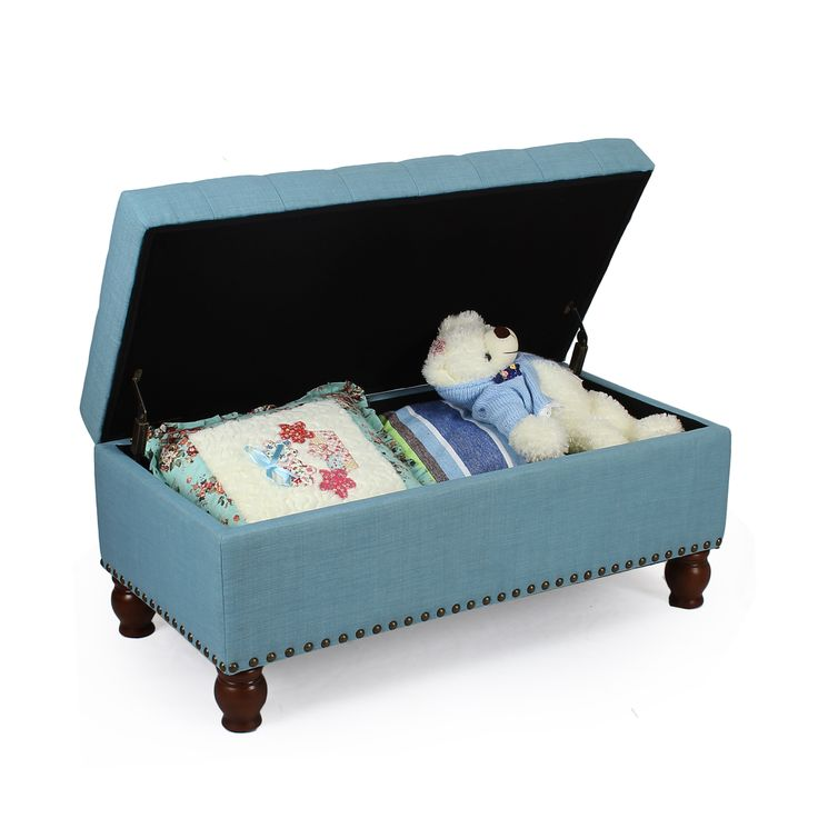 """MATERIAL:+Faux+Linen+ +Solid+Wood+ +The+teal+upholstery+covers+a+sponge+fillDimensions:+40+*+20+*+17.52+inches;+Height+of+seat:+17.5""""QUALITY:+Cushioned+Top+and+Cover+Provide+Softness+and+Comfort,+Embedded+Solid+Wood+Offers+Stability+and+DurablityFEATURES+a+Modern,+Classy+Design;+Bright+Hue+adds+Passion+and+Vitality;+Spacious+Storage+SpaceGREAT+for+Bed+Room,+Foyer+and+Lobby+Wherever+Needs+Seating+and+Storage,+also+Blends+well+with+a+Variety+of+Decor;+Perfect+Size+in+Front+of+Queen+size+B..."""