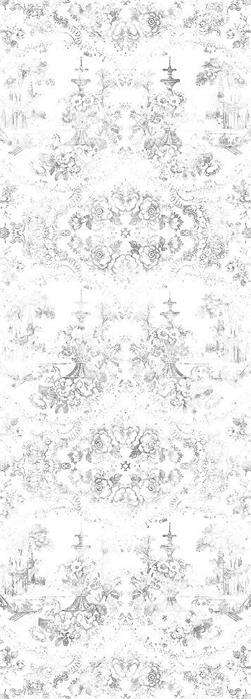 Almost White Delft Baroque Wallpaper - Mineheart - Eccentric British Design