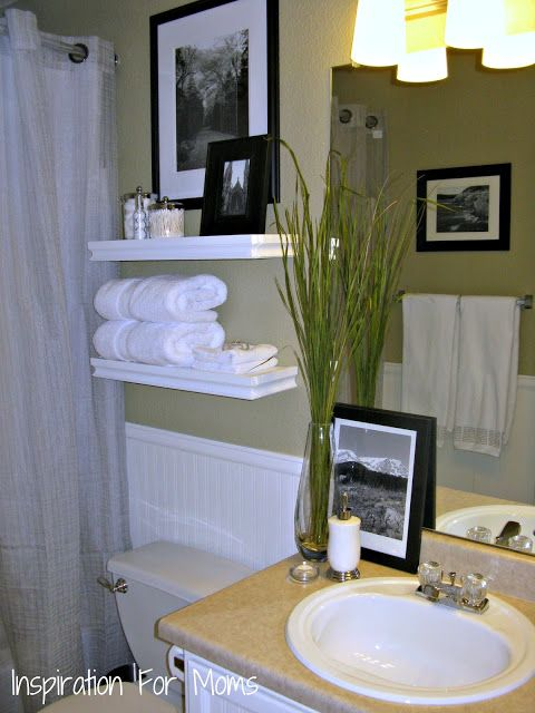 Small Bath Idea: Inspiration For Moms: I Finished It Friday: Guest Bathroom Remodel