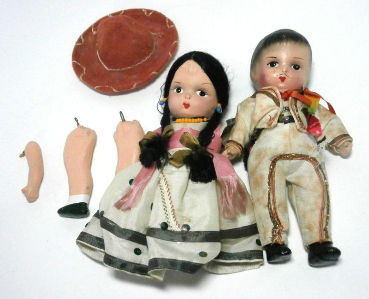She? wife vintage mexican doll