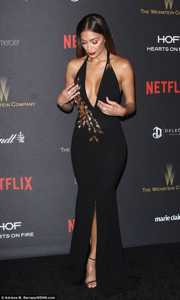 Busty:Nicole Scherzinger showed exactly what her tennis ace boyfriend Grigor Dimitrovsees in her as she stormed the red carpet at the InStyle and Warner Bros. Golded Globes after-party at The Beverly Hilton Hotel on Sunday