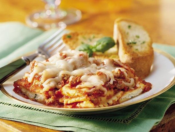 Do Ahead Ravioli Sausage Lasagna