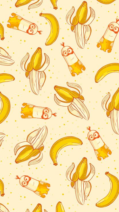 Minions Meet Bananas. Download the wallpaper for your iPhone now!