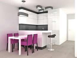 Salon z aneksem (stół+wyspa-kolor)