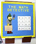 Math detective middle school interactive bulletin board. Convert fractions, perc