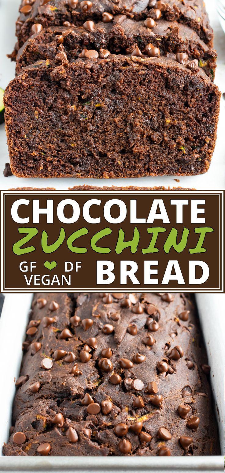Double Chocolate Zucchini Bread Recipe Recipe In 2020 Healthy Dessert Recipes Gluten Free Dairy Free Recipes Chocolate Zucchini Bread