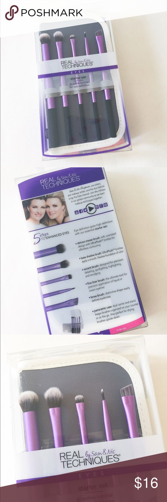🆕NIB Real Techniques eye 5 brushes kit/set + case Brand new in box! Include 5 eye brushes and 1 case. Please see pics for details. ❌no trade ❌no lowball offers!!! Real Techniques Makeup Brushes & Tools