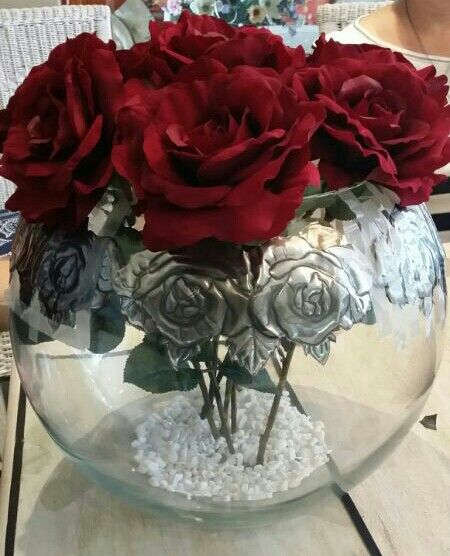 Pewter Rose Vase