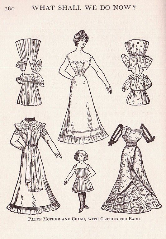 paper doll coloring page for kids - Paper Doll Clothes Coloring Pages