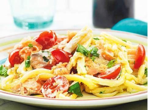 Laxpasta med mascarpone-salsa – Paolo Roberto